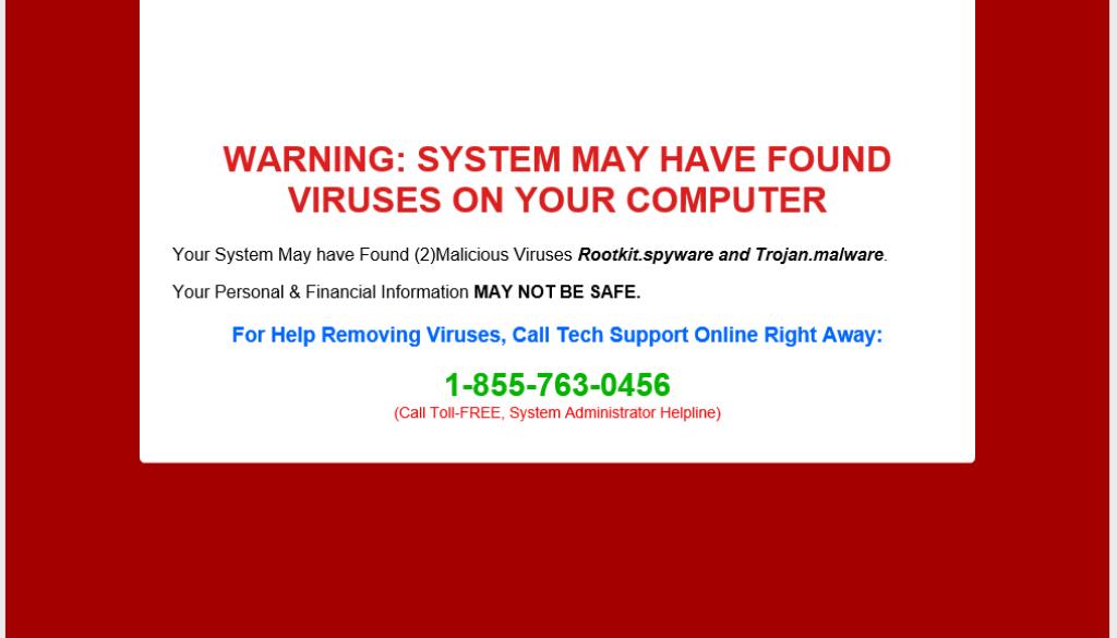 red screen alert